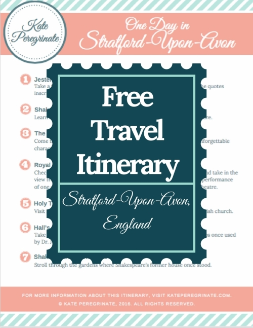 Free travel itinerary!