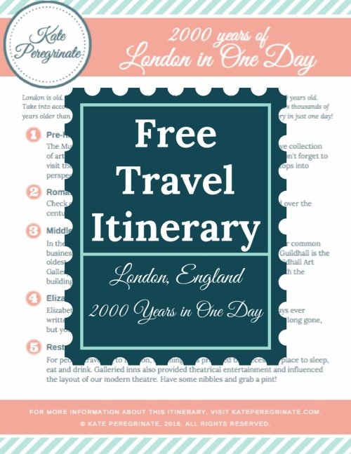 Free travel itinerary to download before your next trip to London, England