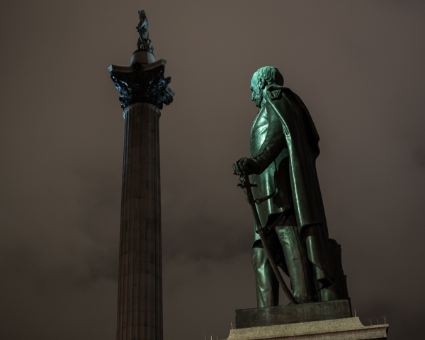Nelson's Column at Night