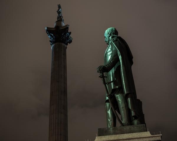Nelson's Column at Night