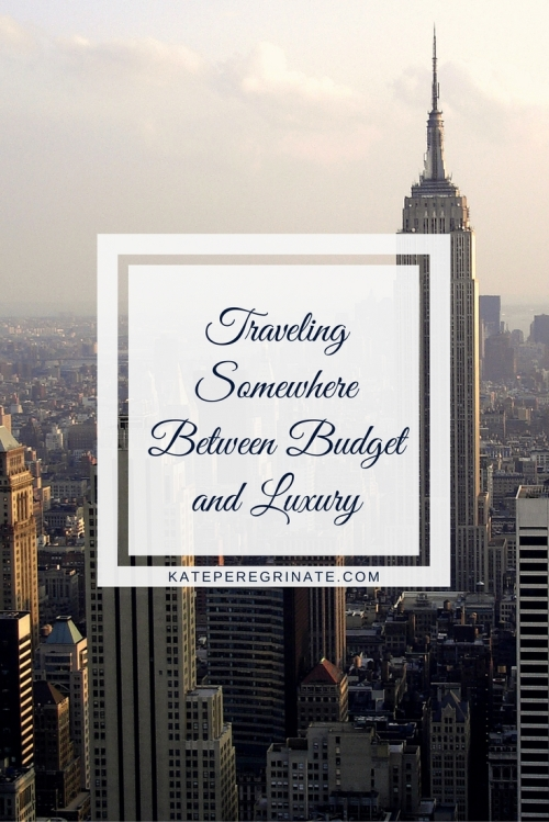 Traveling Somewhere Between Budget and Luxury | My travel preferences fall somewhere between budget and luxury. I tried to find a word to describe this spot, but there really isn't one.